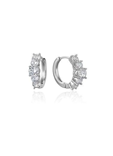 Tophills Diamond Co. 1,60 Ct Pırlanta Efekt Altın Valentina Beştaş Küpe Renkli